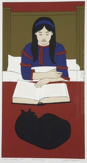 Child Reading Red 1970