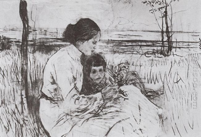 Children Of The Artist Olga And Anton Serov 1906