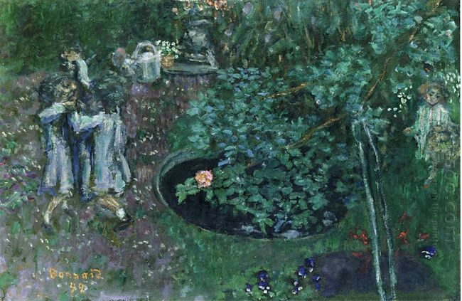 Children Playing In A Garden 1899