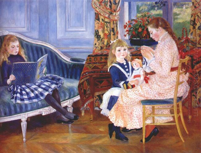 Children S Afternoon At Wargemont Marguerite 1884