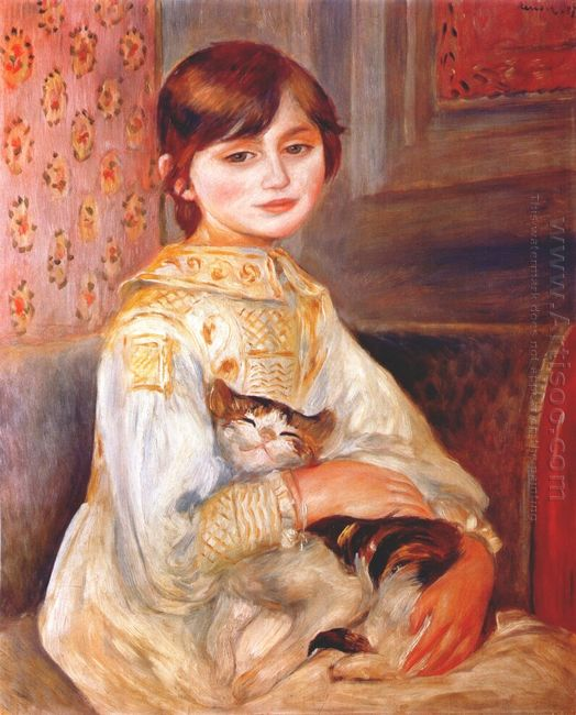 Child With Cat Julie Manet 1887
