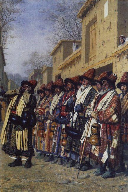 Chorus Of Dervishes Begging Tashkent 1870