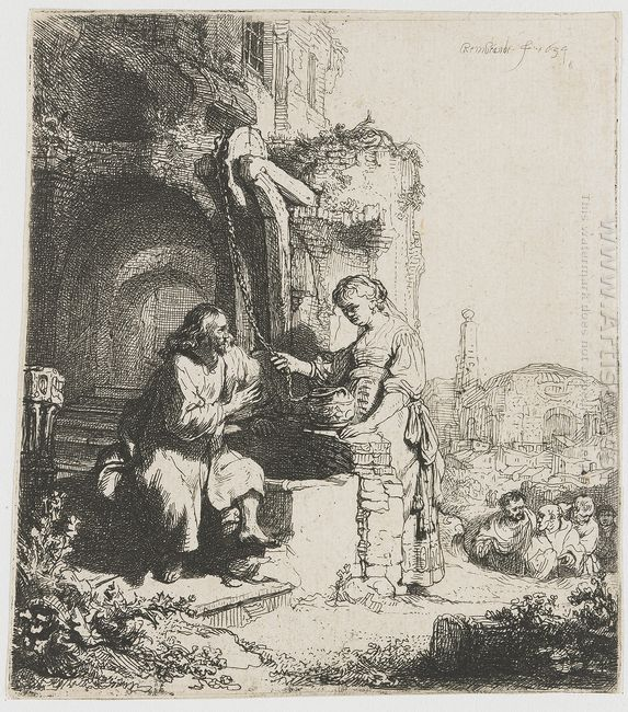 Christ And The Woman Of Samaria Among Ruins 1634