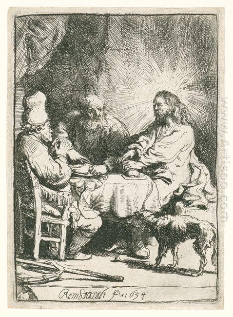Christ At Emmaus 1634