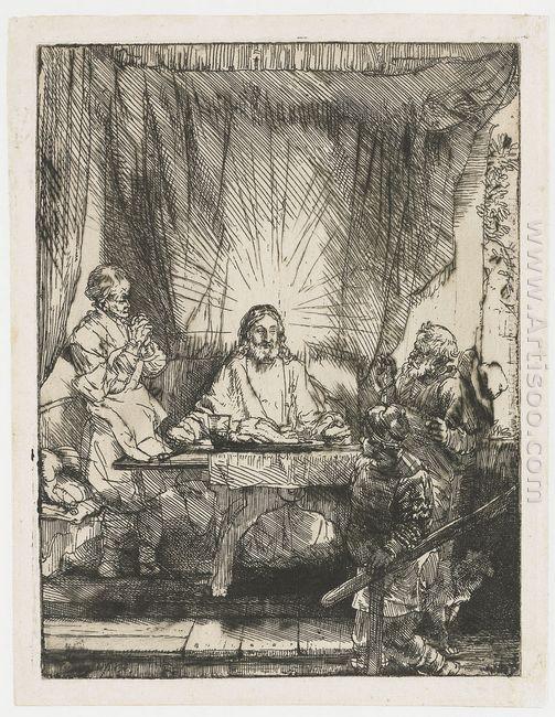 Christ At Emmaus 1654