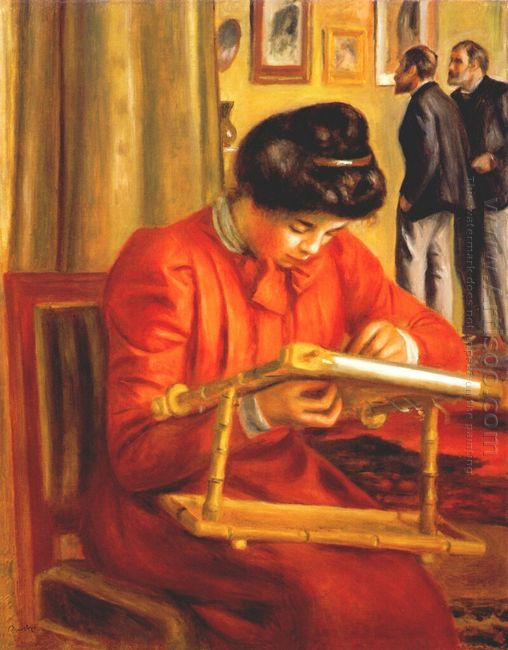 Christine Lerolle Embroidering 1897