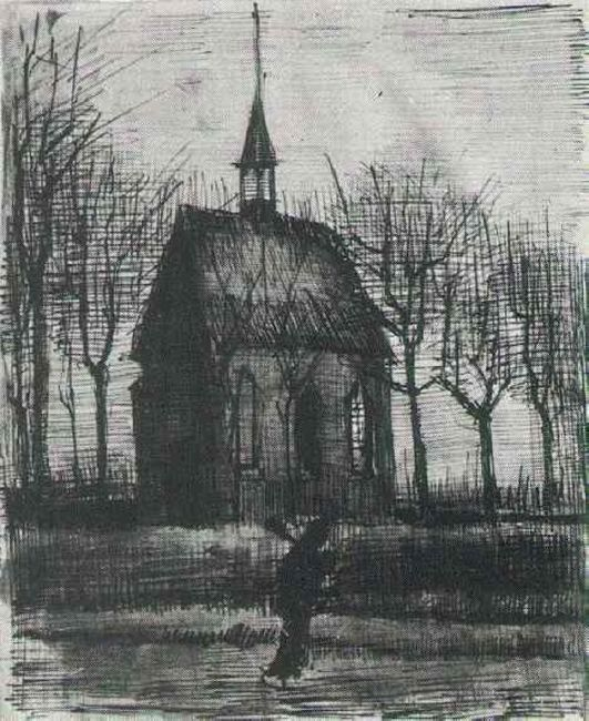 Church In Nuenen With One Figure