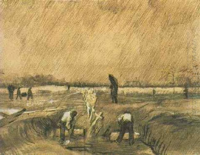 Churchyard In The Rain 1883