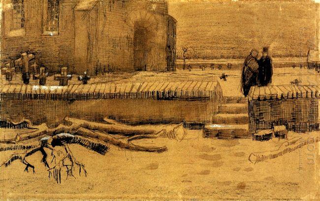 Churchyard In Winter 1883 1