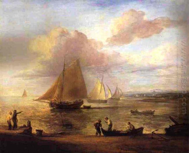 Coastal Scene A Calm 1783