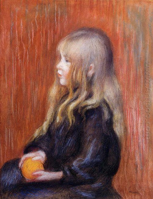 Coco Holding A Orange 1904