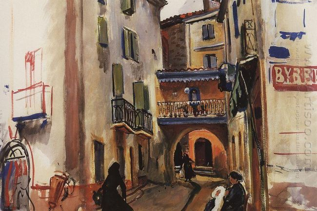 Collioure A Street With Arch 1930