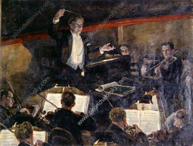 Conductor Nikolai Semenovich Golovanov And Orchestra 1934