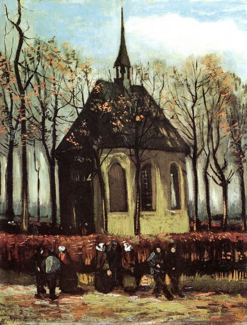 Congregation Leaving The Reformed Church In Nuenen 1884