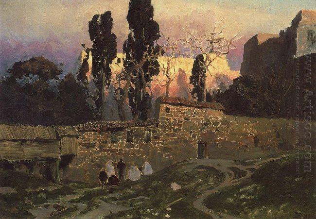 Constantinople Istanbul Eski Sarayskiy Garden 1882