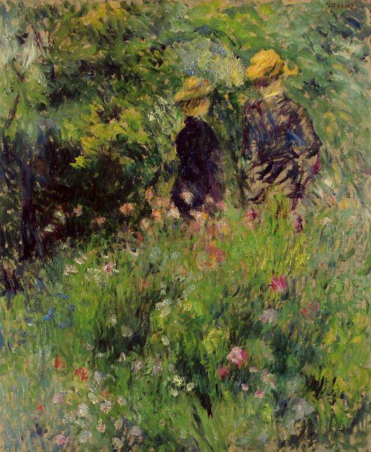 Conversation In A Rose Garden 1876