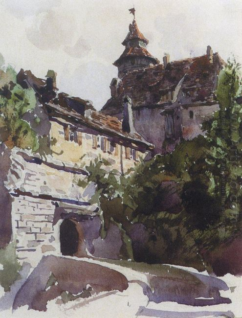 Corner Of The Medieval City With A Wall 1889