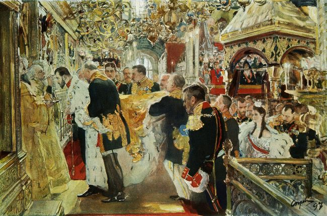Coronation Of The Emperor Nicholas Ii In The Uspensky Cathedral