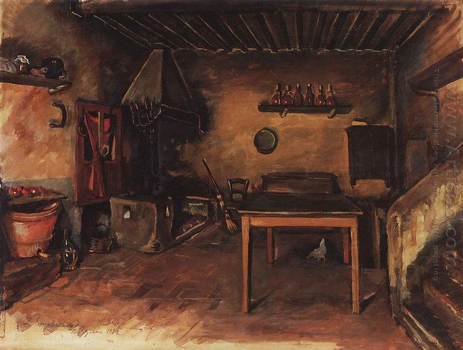 Country Kitchen Around Budzhiano 1932