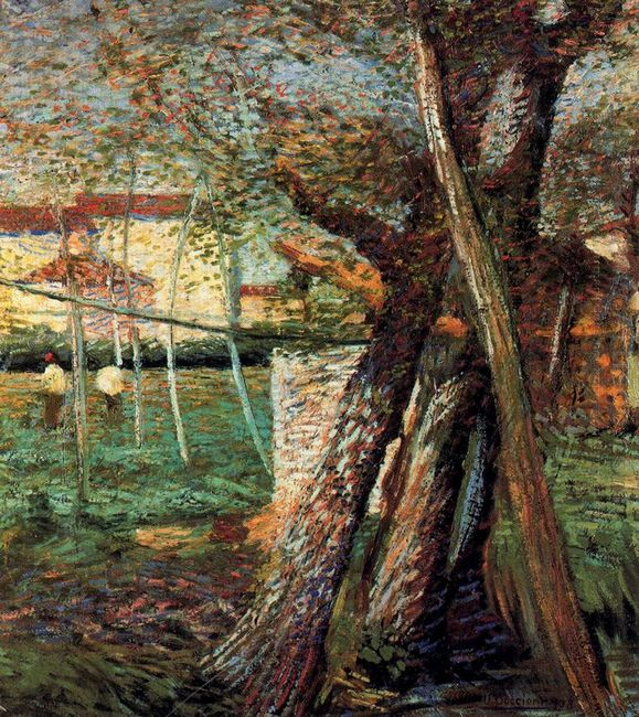 Countryside With Trees 1908