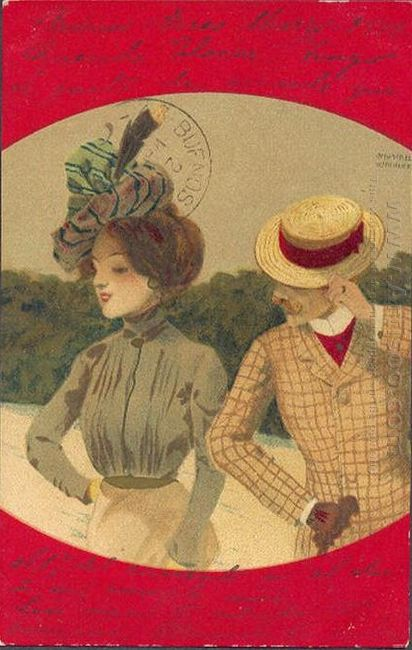 Couples Between Red Borders 1901 4