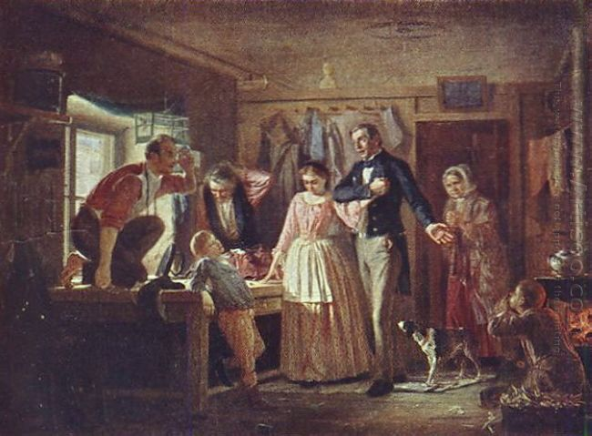 Courting An Official To His Daughter Tailor 1862