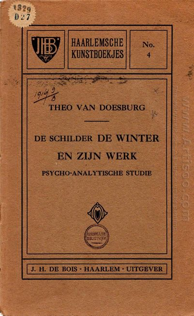 Cover Of The Painter And His Work Psycho Analytic Study 1916