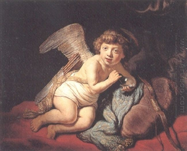 Cupid Blowing Soap Bubbles 1634