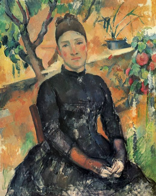 Madame Cezanne in the Greenhouse