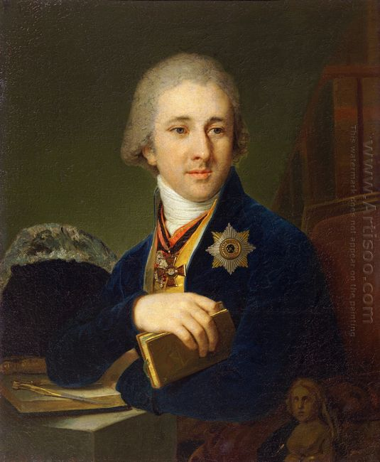 Portrait Of The Author Alexander Labsin 1805