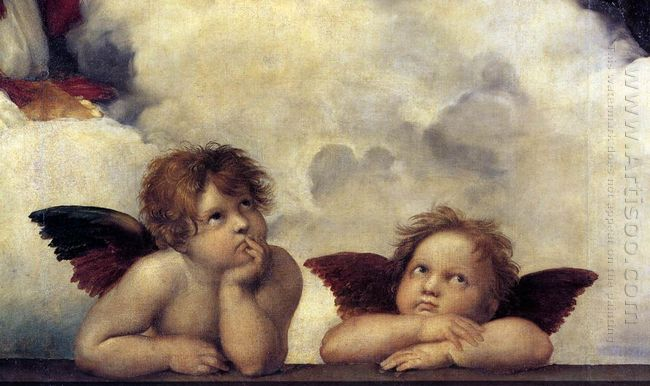 Putti Detail From The Sistine Madonna 1513