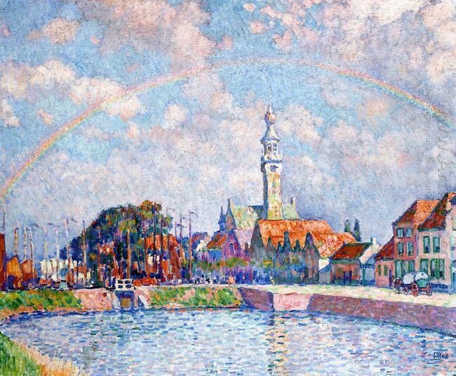 Rainbow Over Veere 1906