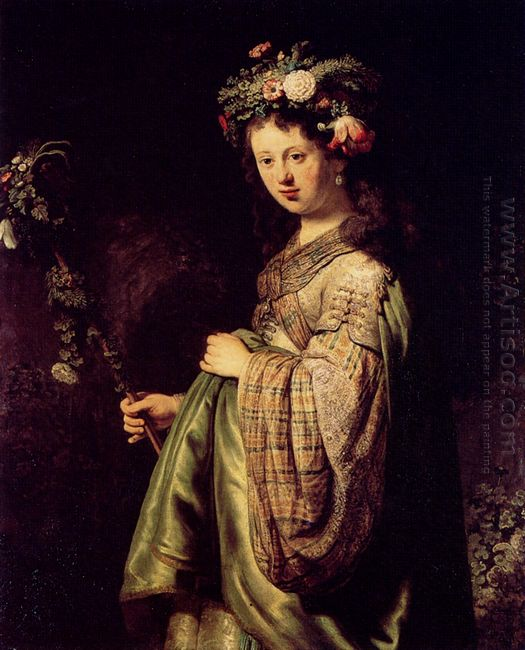 Saskia As Flora 1634 Oil On Canvas 1634