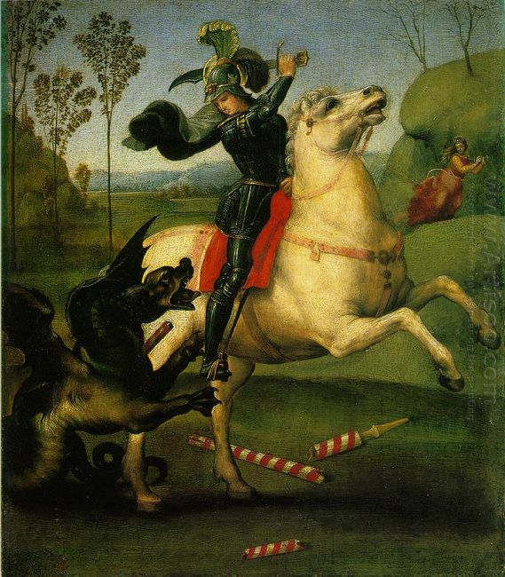 St George Struggling With The Dragon 1505
