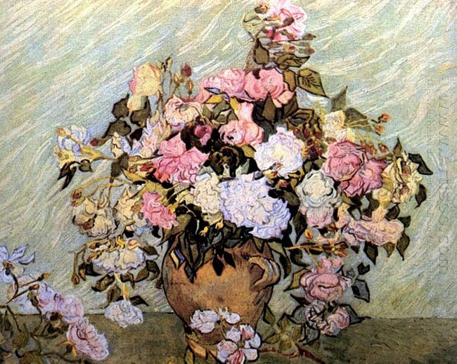 Still Life Vase With Roses 1890