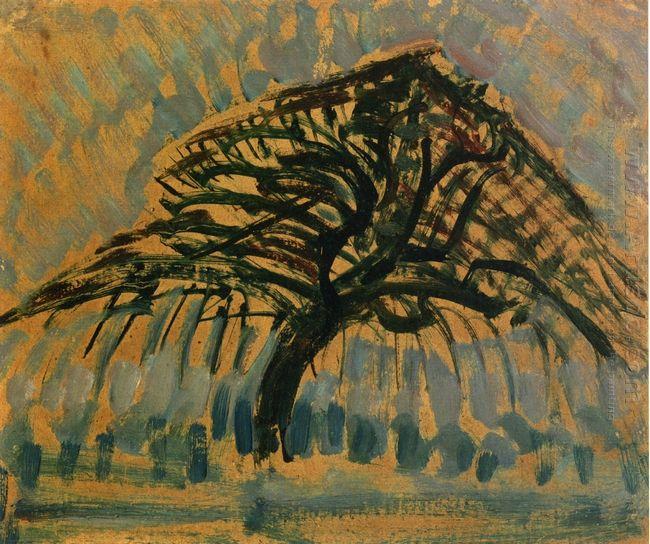 Study For Blue Apple Tree Series