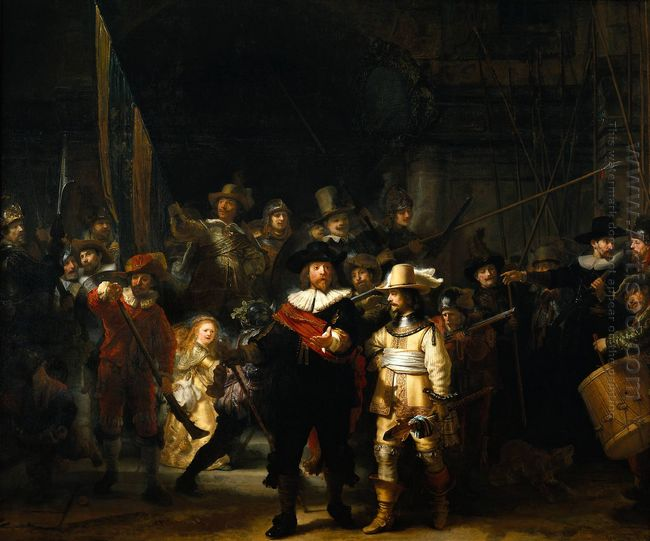 The Nightwatch 1642 by Rembrandt Van Rijn