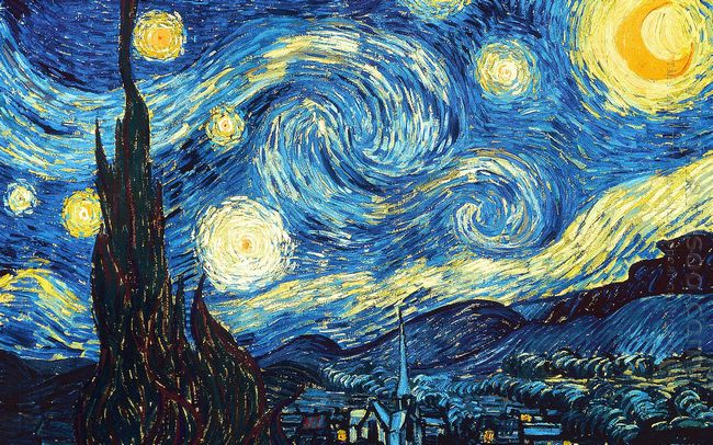 The Starry Night 1889 by Vincent Van Gogh