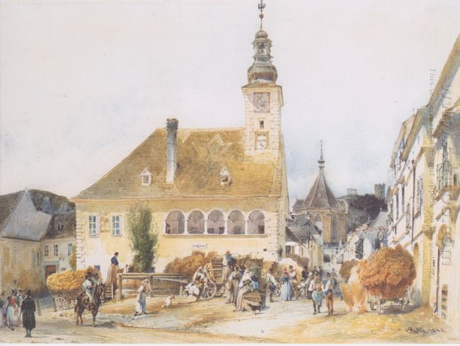 The Town Hall In Mödling 1842