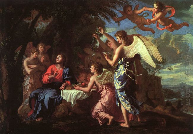 Christ servi par les anges