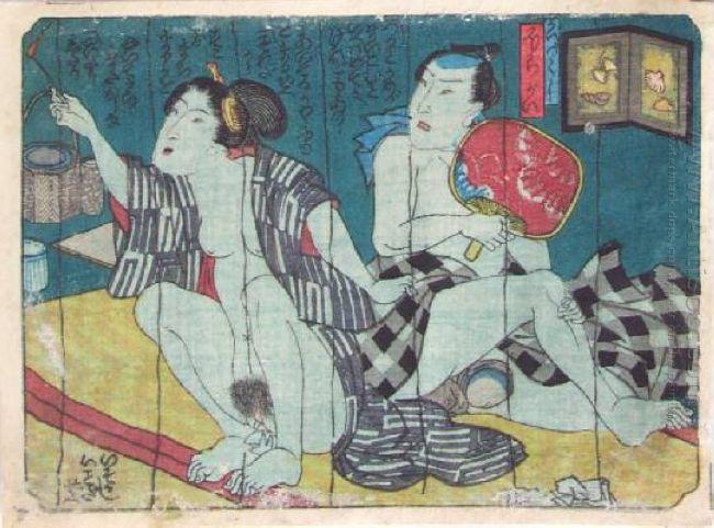 Эротические гравюры Японии.