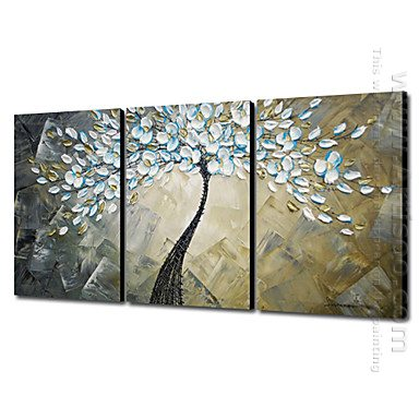 Hand Painted Oil Painting Abstract - Set of 3
