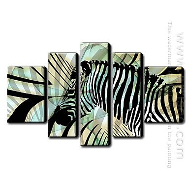 Hand Painted Oil Painting Animal - Set Dari 5 1211-An0033