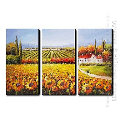 Hand Painted Oil Painting Landscape - Set of 3 1211-LS0226