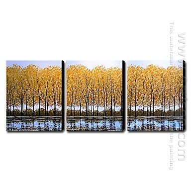 Hand Painted Oil Painting Landscape Tall - Set of 3
