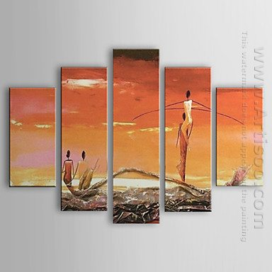 Hand-painted Oil Painting People - Set of 5 1302-PE0210