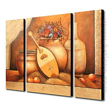 Hand-painted Oil Painting Still Life Landscape - Set of 3