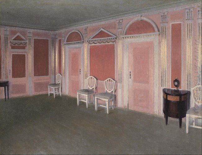 Interior in Louis Seize style. From the artist's home. Rahbeks All<div class=