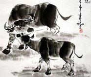 Chinese Koe Schilderkunst