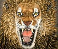 Chinese Leeuw Schilderkunst